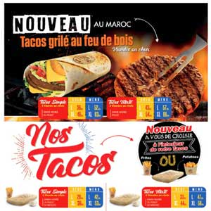 Menu Tacos de France Juin 2020