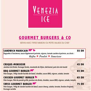 Venezia Ice Maroc Menu Gourmand 2020