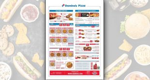 Menu Domino's Pizza