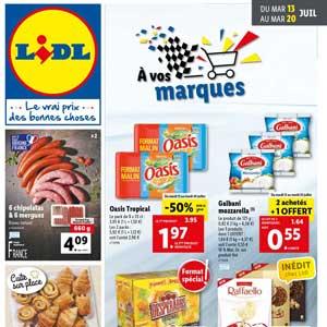 Catalogue Lidl de la semaine Du 13 Au 20 Juillet 2021