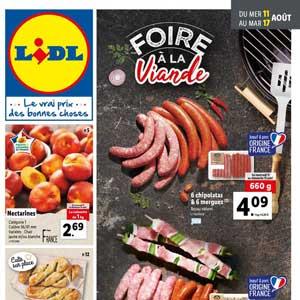 Catalogue Lidl de la semaine Du 11 Au 17 Aout 2021